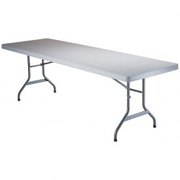 "Lifetime(r) Portable Folding Table 96"" - White Granite"