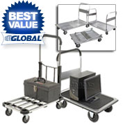 Folding Platform Trucks - Steel & Aluminum Decks