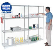 "74"" High Nexel(r) Chrome Wire Shelving"