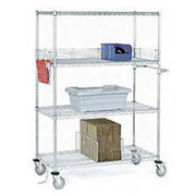 NSF Adjustable Chrome Wire Shelf Trucks