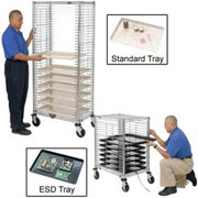 Chrome Wire Tray Carts & Trucks