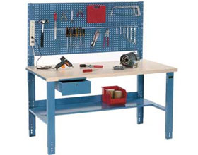 Industrial Adjustable Height Workbench