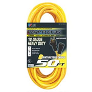 U.S. Wire 57025 Temp-Flex 35 Extension 25 Ft. 14/3 300V